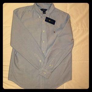 Boys denim Ralph Lauren Polo shirt